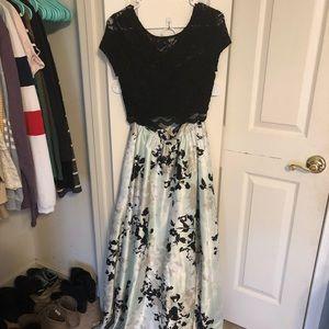 Floor length 2 piece gown